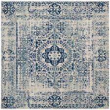 safavieh evoke apipe ivory blue square indoor oriental area rug common 7 x