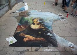 3d street painting danke for street art festival in wilhelmshaven 2016