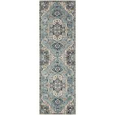 cairo teal ivory 2 ft 6 in x 7 ft 10 in