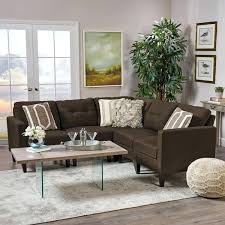 2 5 piece sectional couch nevio leather mid century modern fabric sofa