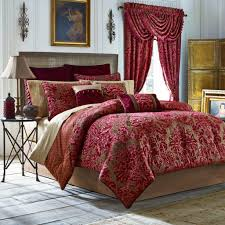 luxury red pink comforter sets bedding matching curtains