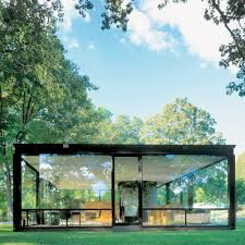 the glass house or johnson house, built in 1949 in new canaan, connecticut,  was designed by philip johnson as his own residence.
