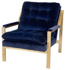 blue velvet accent chair. Cumulus Hollywood Regency Navy Blue Velvet Gold Arm Chair Accent