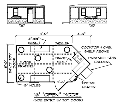 Custom Cottages Inc    Mobile Shelter Design for Ice Fishing    Floor Plan