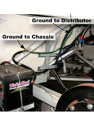 race car wiring street stock wiring 101 hot rod network this rear mounted battery shows the main ground wire a secondary ground running to