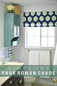 faux roman shade. How To Make A Faux Roman Shade: Simple Sewing Tutorial - Mad In Crafts Shade R