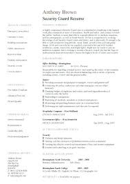 Security Resume Sample Security Guard Resume Example Hospital