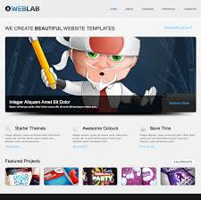 free html5 web template free html5 website template of the week weblab creative beacon