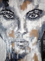 saatchi art artist anita kaufmann painting portrait black white l extra large