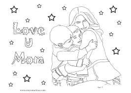 Small Picture Love U Mom Coloring Page for Mothers Day Crayon Action Coloring