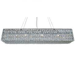 rectangular crystal chandelier with the baker clear light up my home idea 16