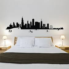 unique chicago wall art with chicago city skyline vinyl wall art decal