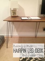how to build a hairpin leg desk that doesn t sag