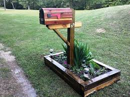 wood mailbox posts. Image Of: Rustic Wood Mailbox Post Posts