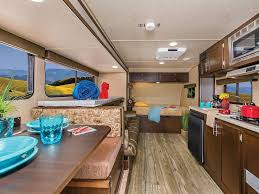 interior of forest river cherokee wolf pup rv