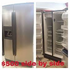 kenmore black refrigerator. kenmore elite stainless steel side by refrigerator with black handles