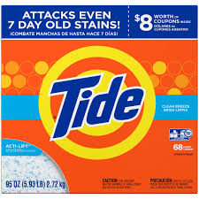 High Efficiency Detergent Brands Tide Ultra Clean Breeze Scent Powder Laundry Detergent 68 Loads 95