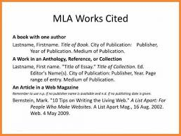 Unusual Mla Works Cited Citation Example Museumlegs