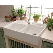 white kitchen sink. Villeroy \u0026 Boch BUTLER 2.25 Bowl Belfast Kitchen Sink   Sink, Taps And White