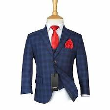 navy suit wedding. Boys Checkered Navy Suits Page Boy Blue Check Suit Kids Wedding