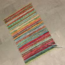 parrot green rag rug meditation mat