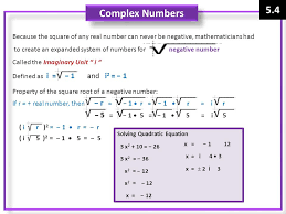 5 4 complex numbers 5 1 5 1 5