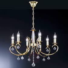 sala chandelier elegant polished brass six bulbs 4509786 01