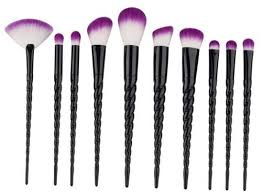 unicorn brush set. black-out black unicorn brush set