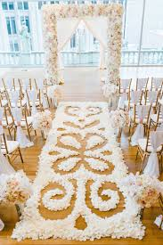 Wedding Ceremony Decorations Ceremony Dccor Photos Intricate Flower Petal Aisle Runner