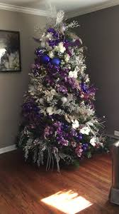 christmas trees decorated purple. Christmas Tree Purple And Silver Xmas Decorations Decoration Noel Spiral In Trees Decorated
