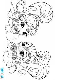 Shimmer E Shine Stampa E Colora Cartoni Animati