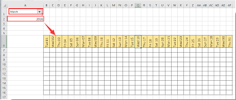 excel calandar how to create a dynamic monthly calendar in excel