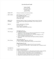 Internship Resume Template Word Resume Template Builder Microsoft