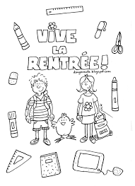 Vive La Rentr E Jpg 1 164 1 600 Pixels French Classroom Ideas S Dessin Dessin A Colorier Pour La Rentree Des ClassesL