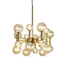 post modern creative golden chandelier fairy light commercial chandelier light