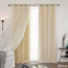 Lace Bedroom Curtains Aurora Home Mix And Match Curtains Blackout Tulle Lace Sheer