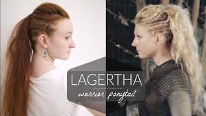 Viking Hairstyle Female lagertha vikings warrior ponytail how to youtube 7227 by wearticles.com