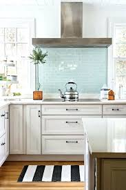 blue glass subway tile kitchen great subtle pop of interest and color with sea backsplash best blue glass subway tile