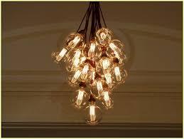 filament light bulb chandelier
