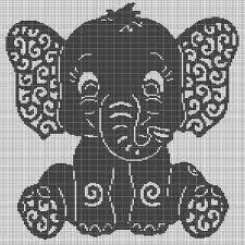 Art Elephant Crochet Afghan Pattern Graph