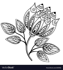 Flowers With Designs Beautiful Black And White Flower Hand Drawing