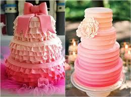 pink wedding cakes pink themed wedding