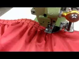 Table Skirt Ruffling Machine with 6 to 1 stitch pleat