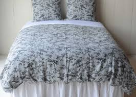 bird toile queen duvet cover in mineral with luxury queen bedding and slender blooming branches