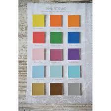 Colour Chart Vintage Paint 60 Colours Jeanne Darc Living