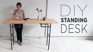 Industrial Pipe Coffee Table Diy Plumbers Pipe Standing Desk