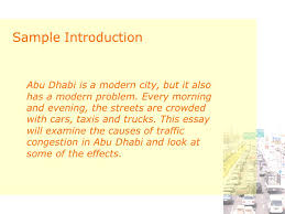 traffic congestion cause and effect essay ppt  8 sample introduction