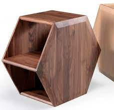 contemporary side table hexa wewood
