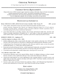 Customer Service Representative Resume Cover Letter By Crystal Newman ...