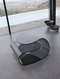 coffee table in curved glass high